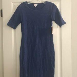 NWT LulaRoe Blue Julia Dress Sz XS